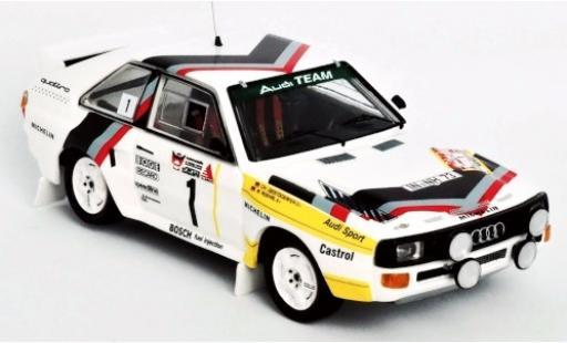 Audi Sport Quattro 1/43 Trofeu Sport quattro No.1 Team Rally DM 3 Städte Rally 1984 Version: Samstag W.Röhrl/C.Geistdörfer diecast model cars