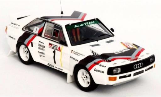 Audi Sport Quattro 1/43 Trofeu Sport quattro No.1 Team Rally DM 3 Städte Rally 1984 Version: Start W.Röhrl/C.Geistdörfer diecast model cars
