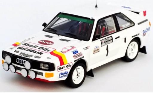 Audi Sport Quattro 1/43 Trofeu Sport quattro No.1 S Oils National Breakdown Rally 1986 H.Mikkola/A.Hertz diecast model cars