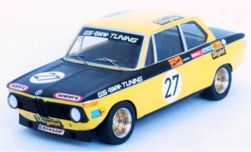 Bmw 2002 1/43 Trofeu No.27 GS Tuning Vergölst 6h Nürburgring 1972 D.Basche/J.Barth miniature
