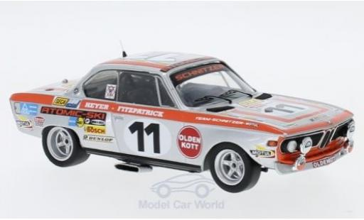 Bmw 2800 1/43 Trofeu CS No.11 Schnitzer 24h Spa 1972 J.Fitzpatrick/H.Heyer miniature