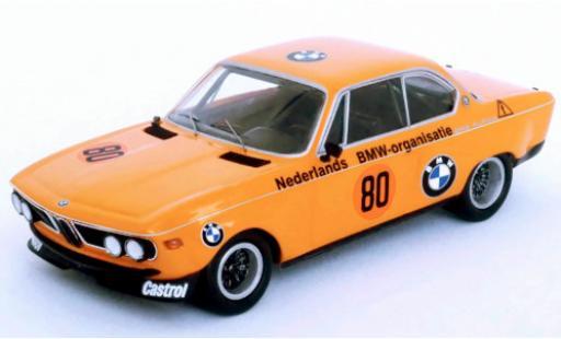 Bmw 2800 1/43 Trofeu CS No.80 Alpina Zandvoort 1972 R.Slotemaker miniature