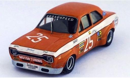 Ford Escort 1/43 Trofeu MK I No.25 Broadspeed Vila Real 1973 R.Barrios miniature