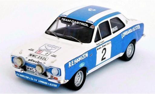 Ford Escort 1/43 Trofeu MK I RHD No.2 Team Castrol Circuit of Irland 1974 A.Boyd/B.Crawford miniature