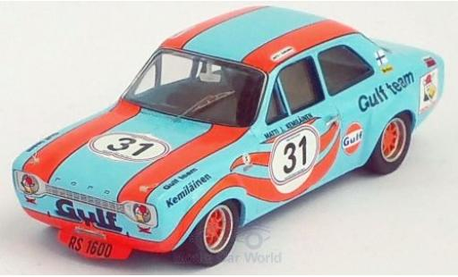 Ford Escort 1/43 Trofeu MK I RS 1600 RHD No.31 Gulf Brands Hatch 1972 M.Kemiläinen miniature
