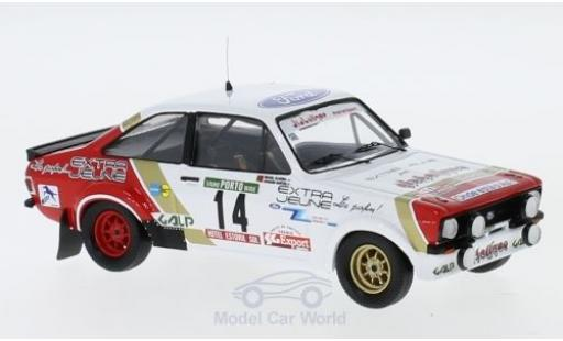 Ford Escort 1/43 Trofeu MK II  1800 No.14 Diabolique Motorsport Rallye WM Rallye Portugal 1984 J.Santos/M.Oliveira miniature