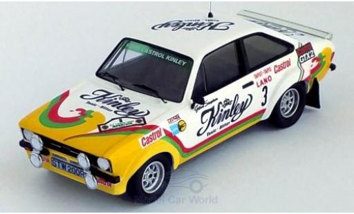 Ford Escort 1/43 Trofeu MK II RS 1800 No.3 Castrol Kinley Kinley Rally Ypres 1978 G.Staepelaere/F.Franssen miniature