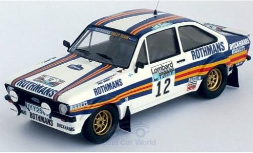 Ford Escort 1/43 Trofeu MK II RS No.12 Rothmans Rally Team Rothmans Rallye WM RAC Rallye 1981 P.Airikkala/P.Short miniature