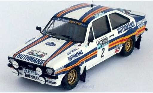 Ford Escort 1/43 Trofeu MK II RS No.2 Rothmans Rally Team Rothmans Rallye WM RAC Rallye 1981 A.Vatanen/D.Richards miniature