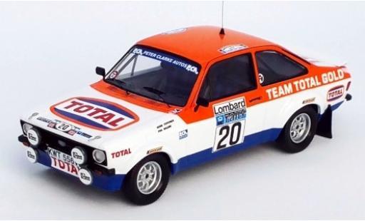 Ford Escort 1/43 Trofeu MK II RS No.20 Team Total Gold Total Rallye WM RAC Rallye 1979 H.Toivonen/P.Boland miniature