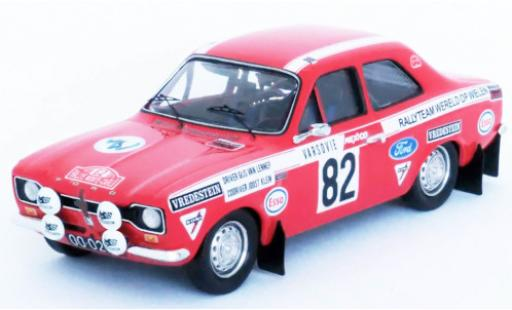 Ford Escort 1/43 Trofeu MkI No.82 Rallyteam Wereld Op Wielen Rally Monte Carlo 1972 G.van Lennep/J.Klein miniature