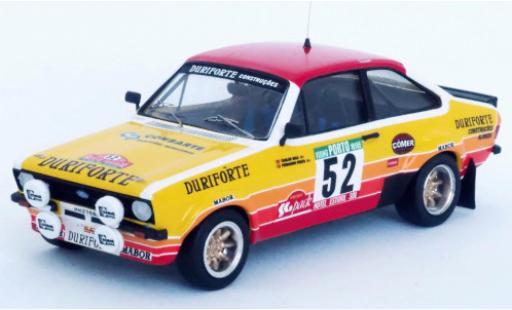 Ford Escort 1/43 Trofeu MkII No.52 Duriforte Rally Portugal 1982 C.Bica/F.Prata miniature