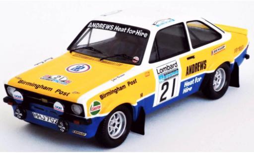 Ford Escort 1/43 Trofeu MkII RS 1800 RHD No.21 Andrews Rallye WM RAC Rally 1975 R.Brookes/J.Brown diecast model cars
