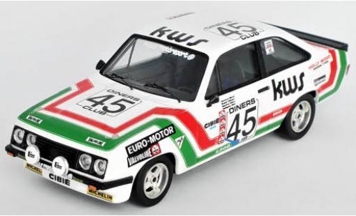 Ford Escort 1/43 Trofeu MKII RS 2000 No.45 KWS Motorsport 24h Spa 1978 H.Bauer/R.Dötsch/M.Mohr/W.Wolf