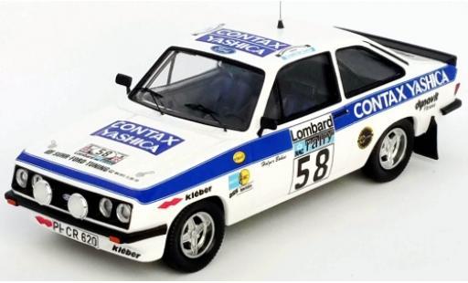 Ford Escort 1/43 Trofeu MKII RS 2000 No.58 Contax Yashica Rallye WM RAC Rallye 1978 H.Bohne/P.Diekmann miniature