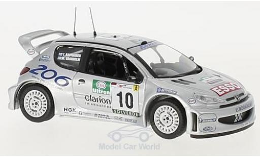 Peugeot 206 WRC 1/43 Trofeu WRC No.10 Rallye WM Rallye Portugal 2000 M.Grönholm/T.Rautiainen miniature