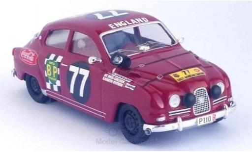 Saab 96 1/43 Trofeu No.77 East African Safari Rally 15 P.Moss/E.Nystrom miniature