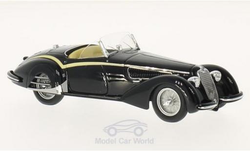 Alfa Romeo 8C 1/18 TrueScale Miniatures 2900B Loungo Touring Spider black 1938 diecast model cars