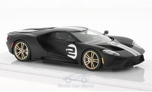 Ford GT 1/43 TrueScale Miniatures matt-noire No.2 Heritage Edition 2017 miniature