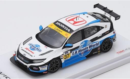 Honda Civic 1/43 TrueScale Miniatures Type R TCR No.37 LA World Racing 24h Daytona 2019 T.O Gorman/S.Blackstock diecast model cars