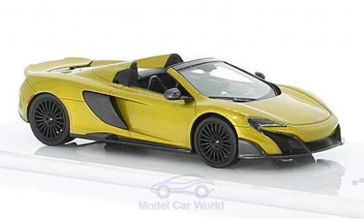 McLaren 675 1/43 TrueScale Miniatures LT Spider gold diecast model cars