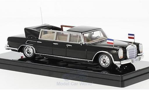 Mercedes 600 Pullmann 1/43 TrueScale Miniatures Landaulet noire Josip Broz Tito President of Yugoslavia 1967 miniature