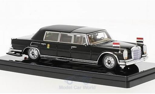Mercedes 600 Pullmann 1/43 TrueScale Miniatures Landaulet noire Saddam Hussein President of Iraq 1978 miniature