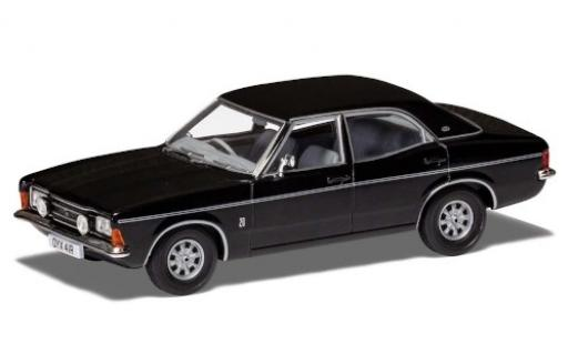 Ford Cortina 1/43 Vanguards Mk3 2000E noire/matt-noire RHD miniature