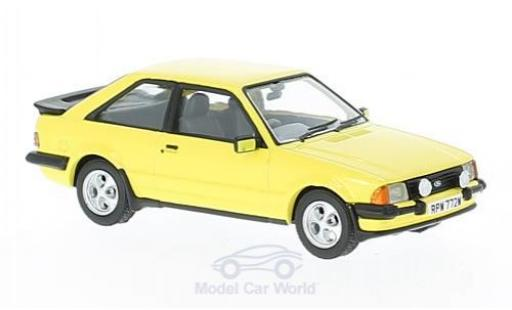 Ford Escort MKI 1/43 Vanguards II XR3 jaune RHD miniature