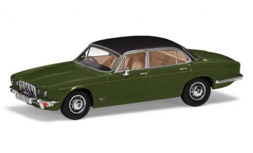 Jaguar XJ 1/43 Vanguards 12 Series 2 LWB green/matt-black RHD diecast model cars