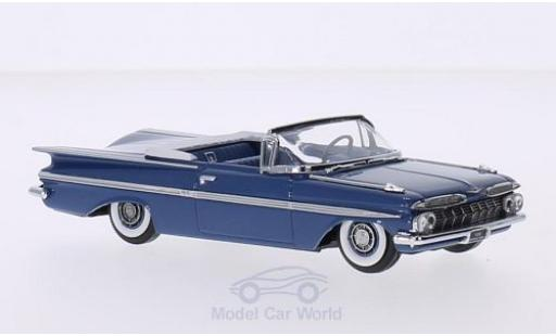 Chevrolet Impala 1959 1/43 Vitesse Convertible metallise bleue Verdeck geöffnet
