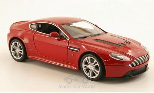 Aston Martin V12 1/24 Welly Vantage metallise red 2010 diecast model cars