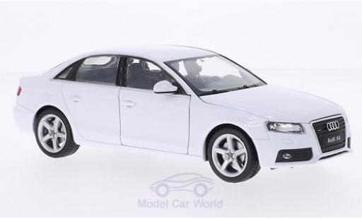Audi A4 1/24 Welly white 2009 diecast