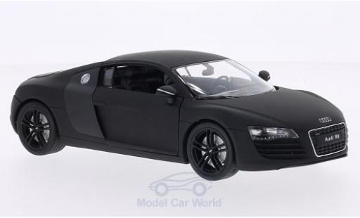 Audi R8 1/24 Welly V10 Coupe matt-noire/carbon miniature