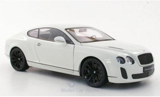 Bentley Continental 1/18 Welly Supersports white diecast model cars