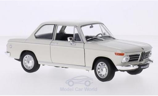 Bmw 2002 1/24 Welly ti blanco coche miniatura