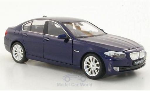 Bmw 535 F10 1/24 Welly i  metallise bleue miniature