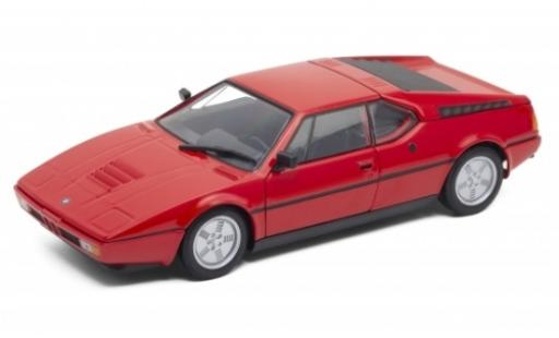 Bmw M1 1/24 Welly rouge 1978