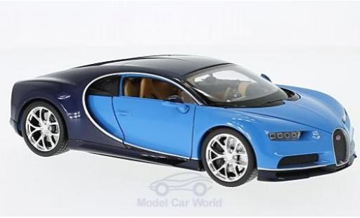 Bugatti Chiron 1/24 Welly blue/blue 2016 diecast model cars
