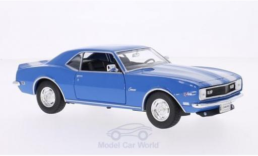 Chevrolet Camaro 1/24 Welly Z28 bleue/blanche 1968 ohne Vitrine miniature