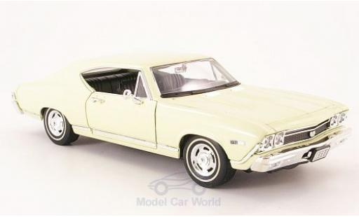 Chevrolet Chevelle 1/24 Welly SS 396 beige 1968 coche miniatura