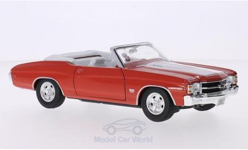 Chevrolet Chevelle 1/24 Welly SS 454 Convertible orange/blanche 1971 miniature