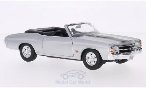 Chevrolet Chevelle 1/24 Welly SS 454 Convertible grise/noire 1971