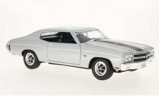 Chevrolet Chevelle 1/18 Welly SS 454 gris/negro 1970 coche miniatura