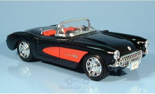 Chevrolet Corvette 1/24 Welly nero 1957 ohne Vitrine miniatura