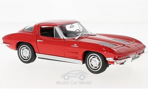 Chevrolet Corvette C2 1/24 Welly Sting Ray  rouge 1963 miniature