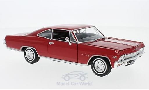 Chevrolet Impala 1/24 Welly SS 396 rouge 1965 miniature
