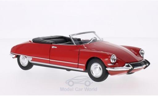 Citroen DS Cabriolet 1/24 Welly 19 rouge Verdeck geöffnet miniature