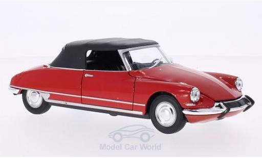 Citroen DS Cabriolet 1/24 Welly 19 rouge Verdeck geschlossen miniature