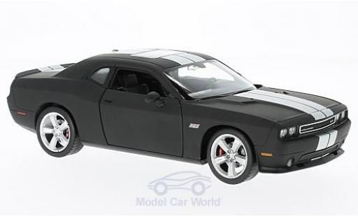 Dodge Challenger 1/24 Welly SRT matt-noire/grise 2012 ohne Vitrine miniature